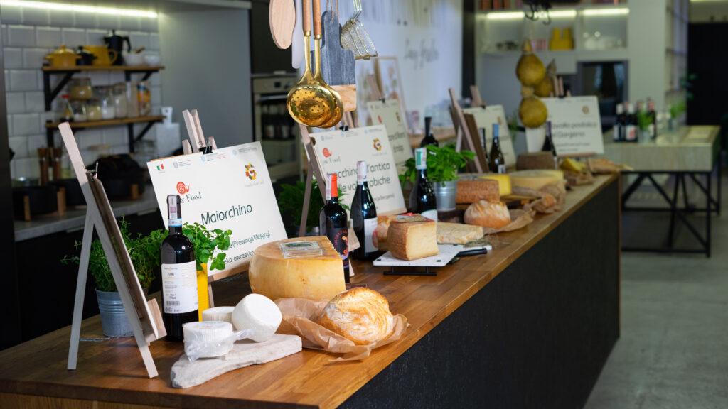 włoskie sery i wino masterclass