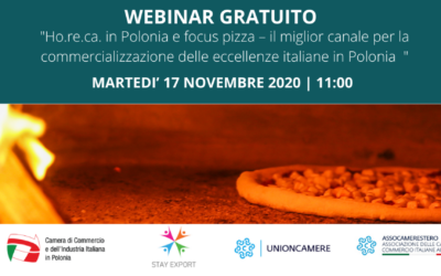 Webinar STAY EXPORT: Ho.re.ca. in Poloniae focus pizza