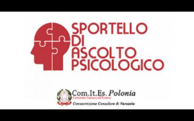 Sportello di ascolto psicologico– Comites Polonia