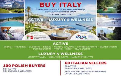 Tutto esaurito per il BUY ITALY della Camera di Commercio Italiana in Polonia, workshop turistico B2B con 100 buyer polacchie 60 seller italiani presentati da ENIT