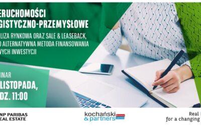Webinar: Nieruchomości logistyczno-przemysłowe