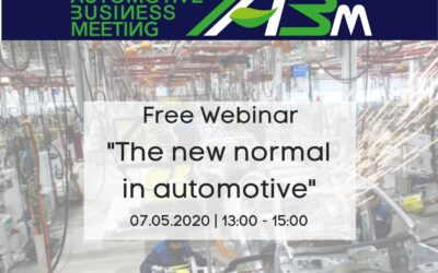 """Webinar """"Road to IABM"""" #1– """"The new normal in automotive"""""""