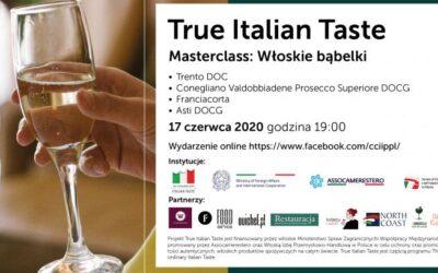 """Masterclass """"Włoskie Babelki""""– TRUE ITALIAN TASTE"""