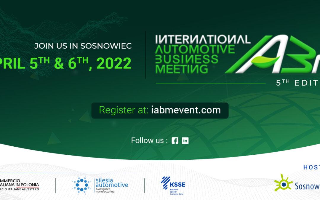 International Automotive Business Meeting (IABM) zmiana terminu na  5 – 6 kwietnia 2022